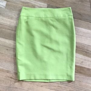 Lime green pencil skirt